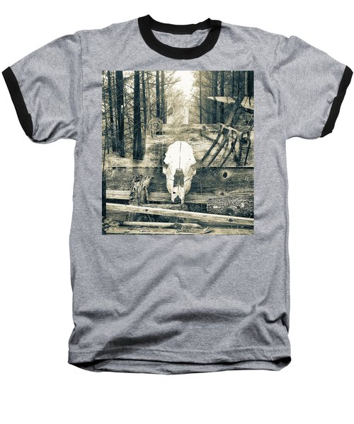 Winter In The In The Woods Baseball T-Shirt