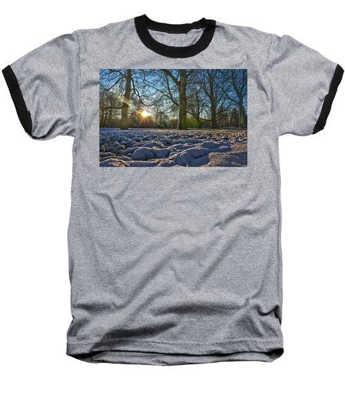 Winter In The Park Baseball T-Shirt