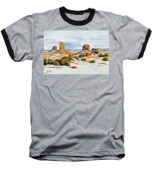 Winter In The Valley Baseball T-Shirt