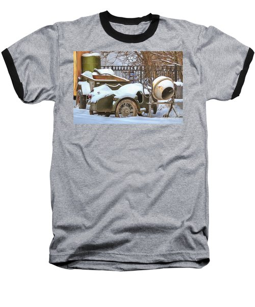 winter in the village Russian Baseball T-Shirt