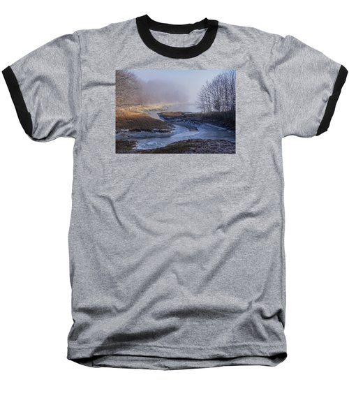 Winter Inlet Baseball T-Shirt by Tom Singleton