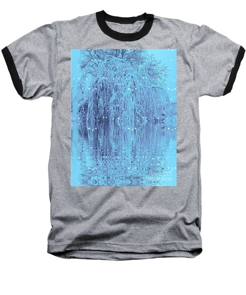 Baseball T-Shirt featuring the photograph Winter Is Pretty by Holly Martinson