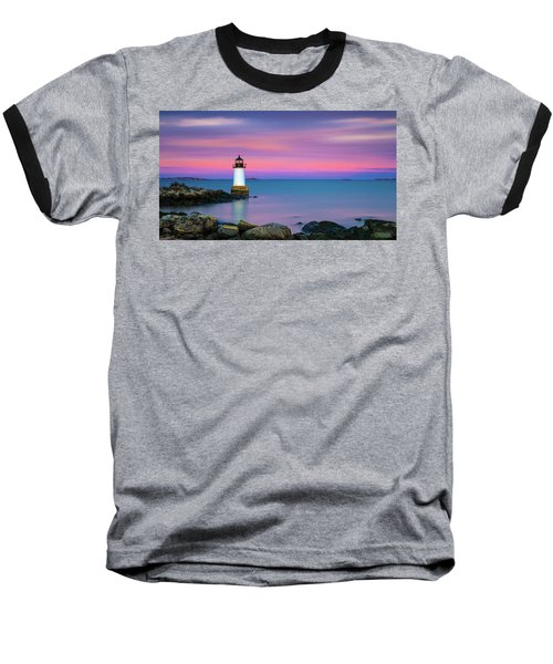 Winter Island Light 1 Baseball T-Shirt