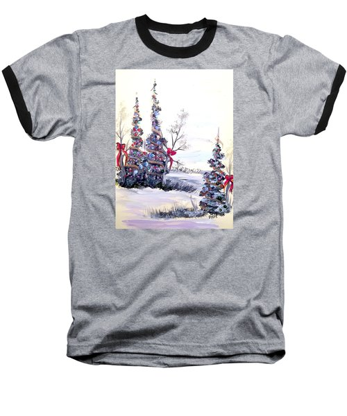 Baseball T-Shirt featuring the painting Winter Joy by Dorothy Maier