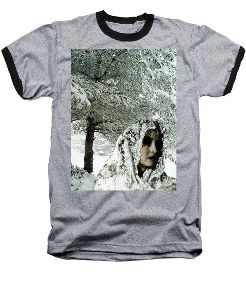 Winter Lace Baseball T-Shirt by Lyric Lucas