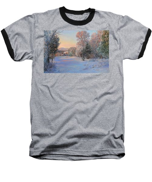 Winter Landscape In The Morning Baseball T-Shirt