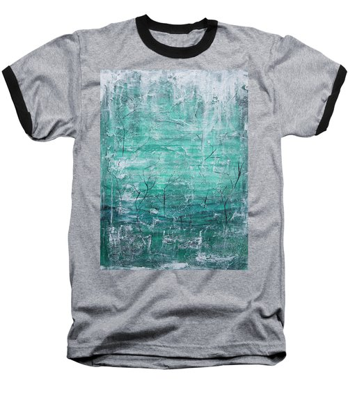 Baseball T-Shirt featuring the painting Winter Landscape by Jocelyn Friis