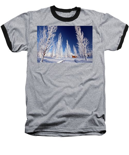 Baseball T-Shirt featuring the photograph Winter Landscape by Wesley Aston
