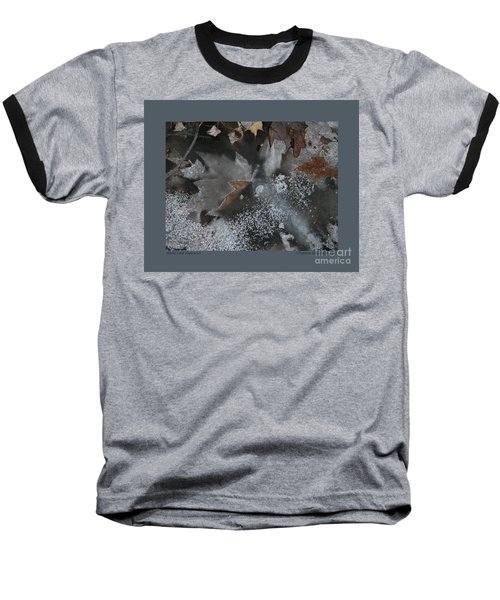 Winter Leaf Abstract-ii Baseball T-Shirt by Patricia Overmoyer