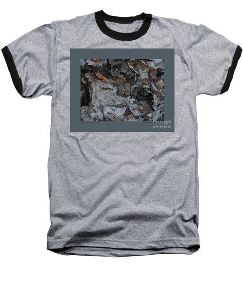 Winter Leaf Abstract-iii Baseball T-Shirt by Patricia Overmoyer