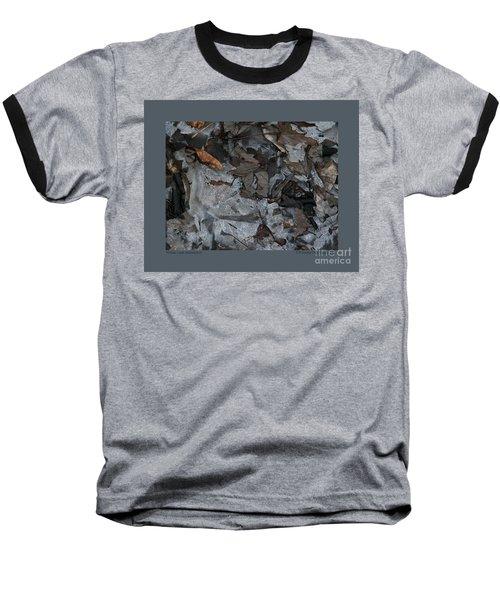 Winter Leaf Abstract-iii Baseball T-Shirt