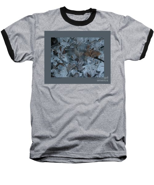 Baseball T-Shirt featuring the photograph Winter Leaf Abstract-v by Patricia Overmoyer