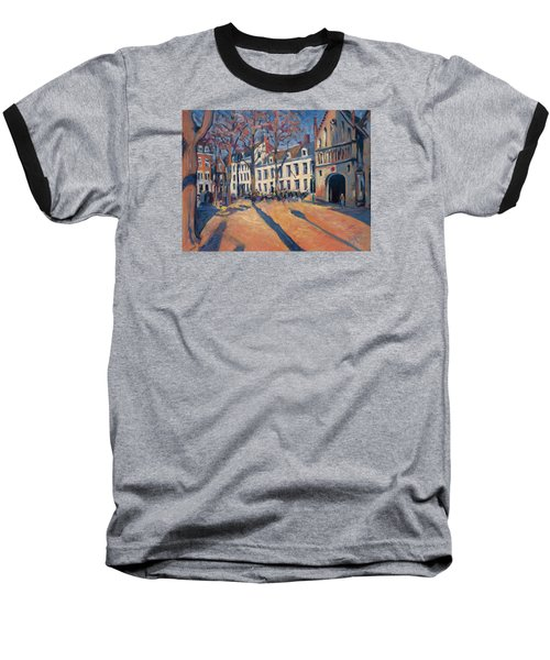 Winter Light At The Our Lady Square In Maastricht Baseball T-Shirt by Nop Briex