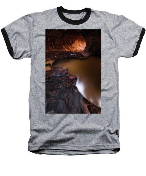 Winter Light Baseball T-Shirt by Dustin LeFevre