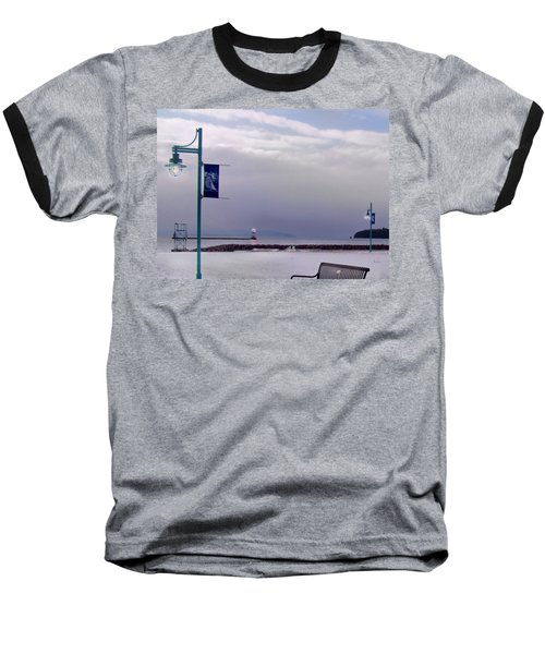 Winter Lights To Rock Point - Derivative Of Evening Sentries At The Coast Guard Station Baseball T-Shirt