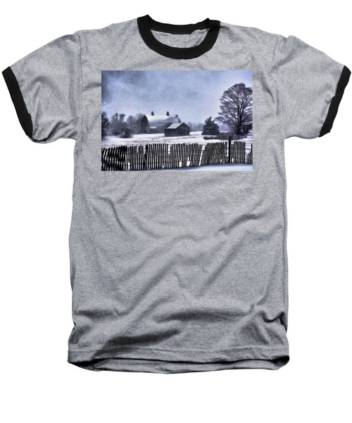 Winter Baseball T-Shirt by Mark Fuller