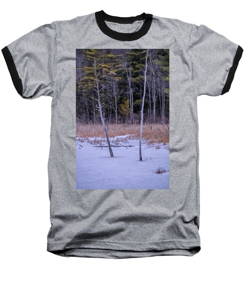 Winter Marsh And Trees Baseball T-Shirt