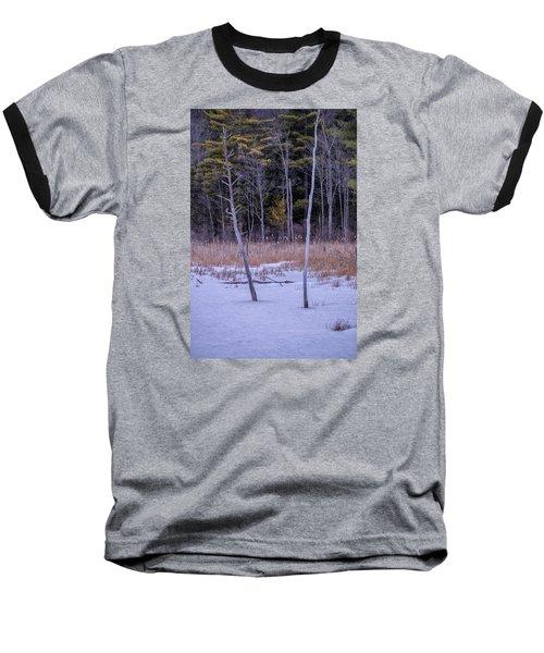 Winter Marsh And Trees Baseball T-Shirt