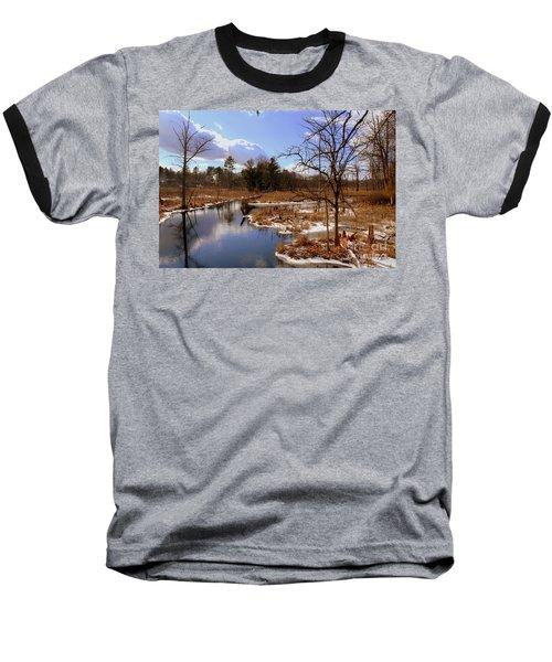 Winter Marsh Baseball T-Shirt