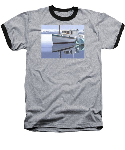 Baseball T-Shirt featuring the painting Winter Moorage by Gary Giacomelli