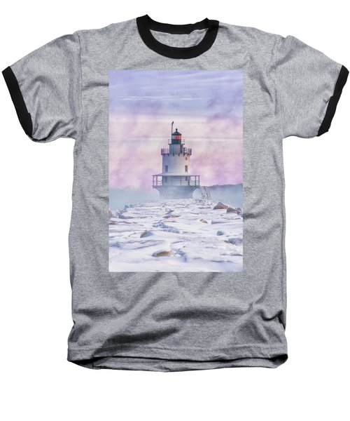 Winter Morning At Spring Point Ledge Baseball T-Shirt