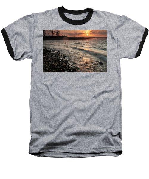 Baseball T-Shirt featuring the photograph Winter Morning At The Vetran's Lake by Iris Greenwell