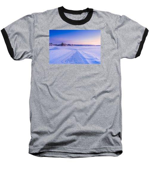 Winter Morning Baxter Lake Nh Baseball T-Shirt