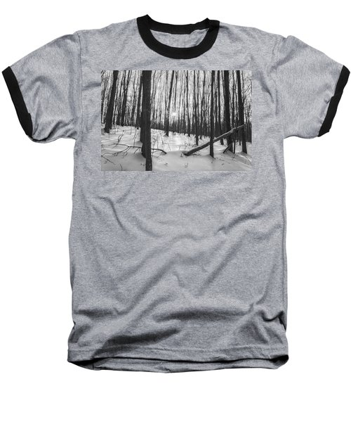 Winter Morning Dream Baseball T-Shirt by Angelo Marcialis