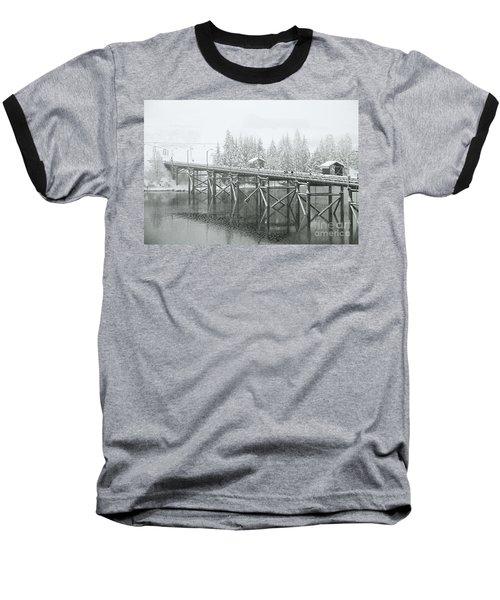 Winter Morning In The Pier Baseball T-Shirt