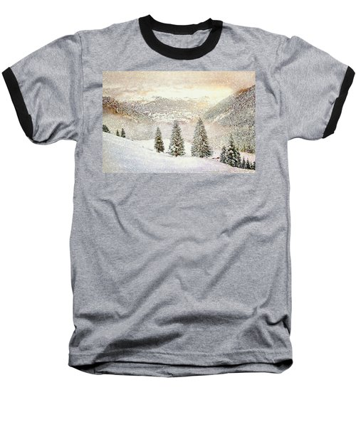 Winter Morning Baseball T-Shirt by Kai Saarto