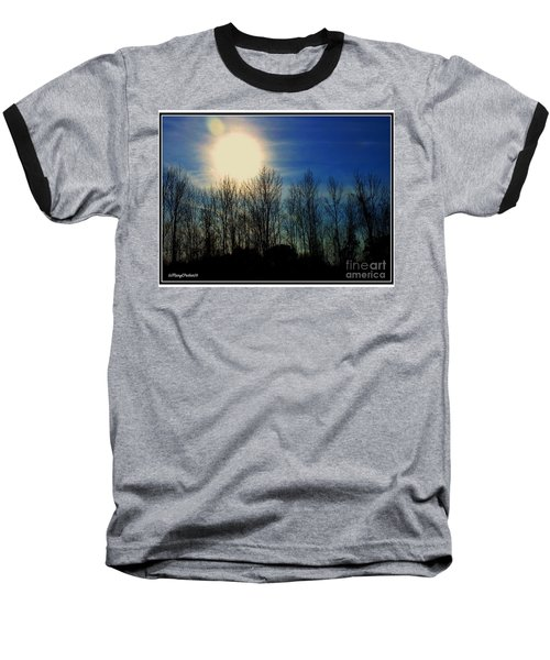 Winter Morning Baseball T-Shirt by MaryLee Parker