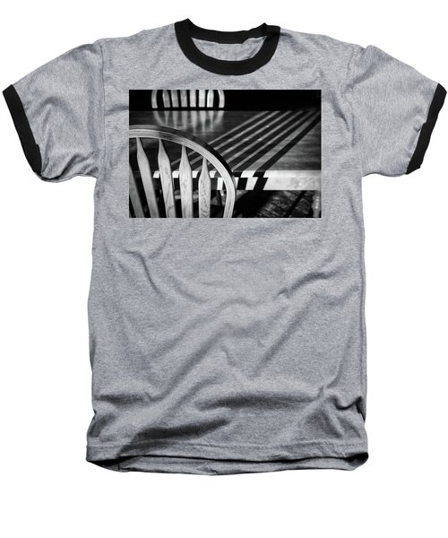 Winter Morning Shadows Baseball T-Shirt