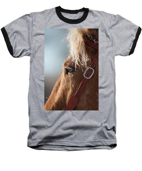 Winter Mustang Eye Baseball T-Shirt