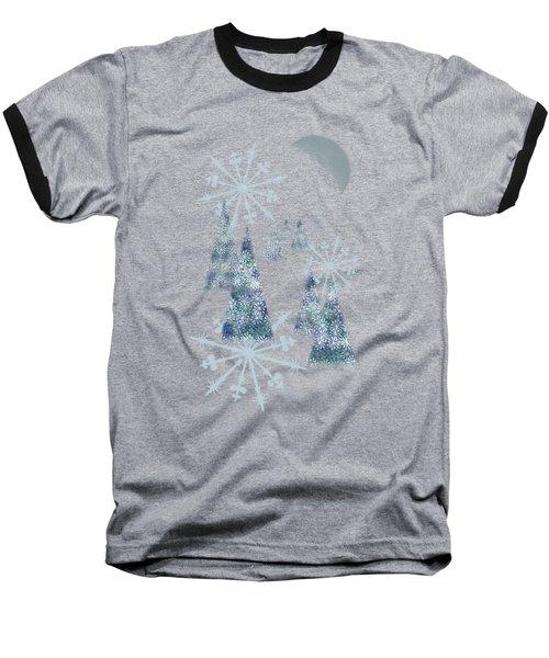 Winter Night Baseball T-Shirt by AugenWerk Susann Serfezi