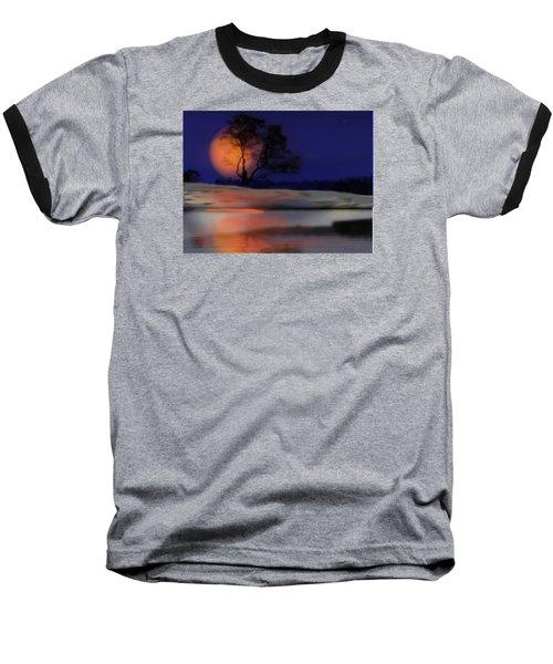Winter Night Baseball T-Shirt by Dr Loifer Vladimir