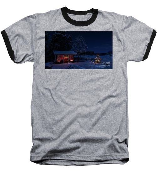 Baseball T-Shirt featuring the photograph Winter Night by Torbjorn Swenelius