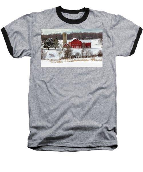 Winter On A Farm Baseball T-Shirt