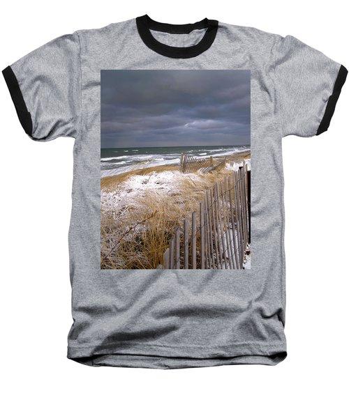 Winter On Cape Cod Sandy Neck Beach Baseball T-Shirt