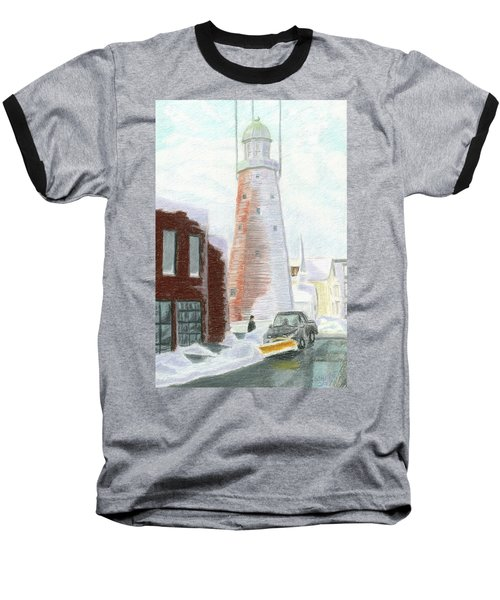 Winter On Munjoy Hill Baseball T-Shirt