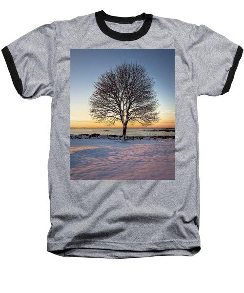 Winter On The Coast Baseball T-Shirt