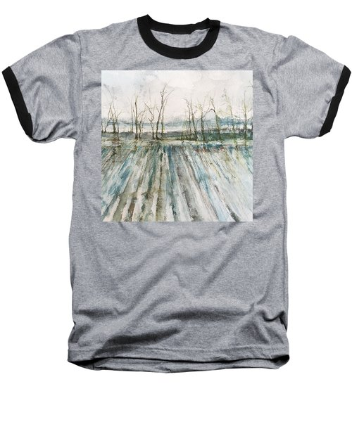 Winter On The Delta Baseball T-Shirt by Robin Miller-Bookhout
