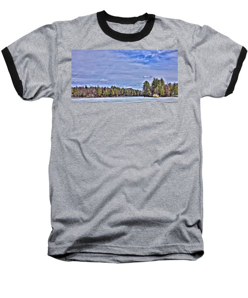 Baseball T-Shirt featuring the photograph Winter On The Pond by David Patterson