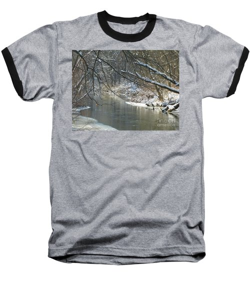 Winter On The Stream Baseball T-Shirt