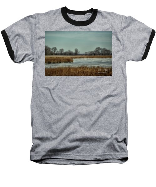 Baseball T-Shirt featuring the photograph Winter On The Water by Tamera James