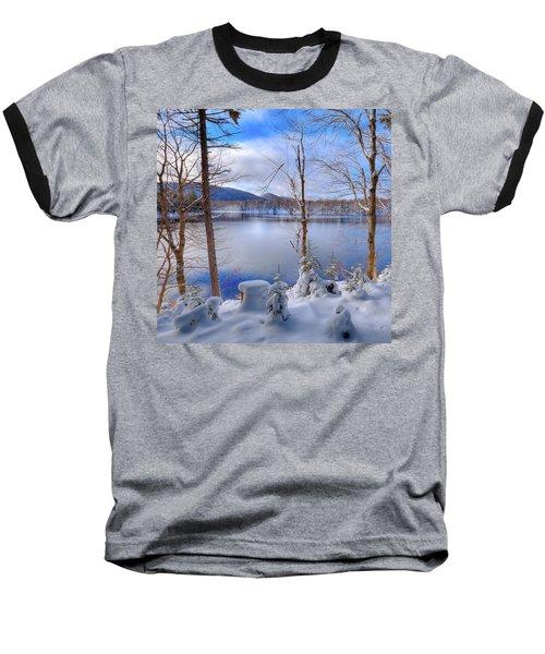 Winter On West Lake Baseball T-Shirt by David Patterson