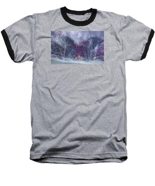 Baseball T-Shirt featuring the photograph Winter Purple by Nareeta Martin