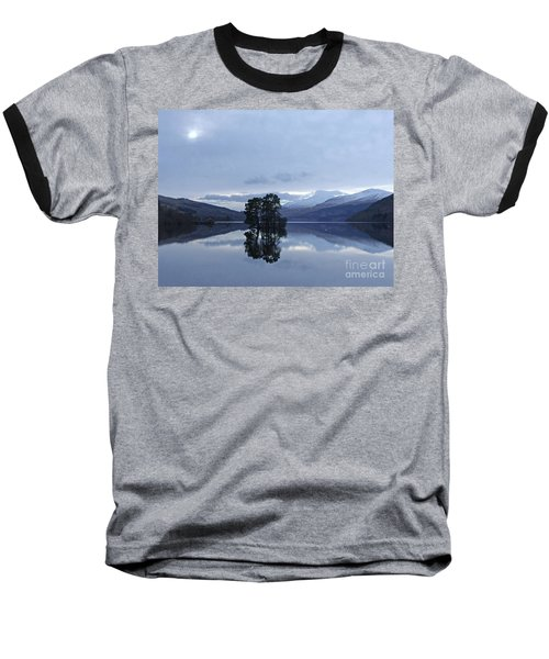Baseball T-Shirt featuring the photograph Winter Reflections - Loch Tay by Phil Banks