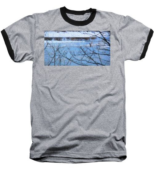 Baseball T-Shirt featuring the photograph Winter River by Kathy Bassett