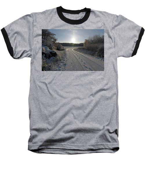Winter Road Baseball T-Shirt
