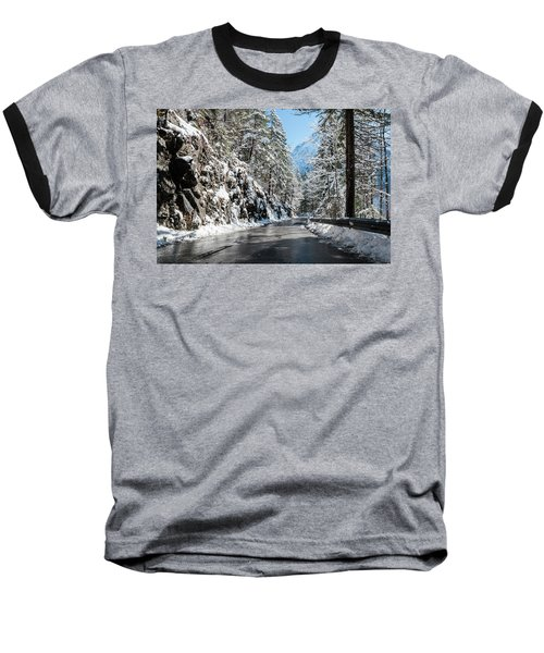 Baseball T-Shirt featuring the photograph Winter Road by Sergey Simanovsky